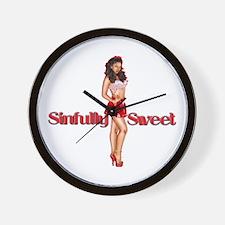 SinfullySweetTrans2.png Wall Clock