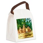 Meerkats standing guard Canvas Lunch Bag