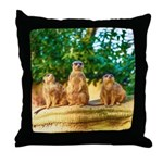 Meerkats standing guard Throw Pillow