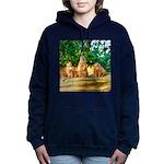Meerkats standing guard Women's Hooded Sweatshirt