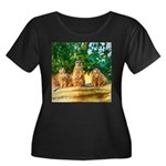Meerkats standing guard Plus Size T-Shirt