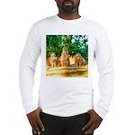 Meerkats standing guard Long Sleeve T-Shirt