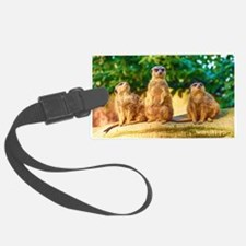 Meerkats standing guard Luggage Tag