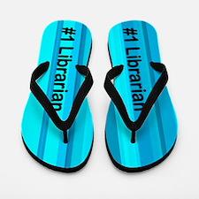 Blue Librarian Flip Flops