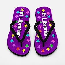 Purple Librarian Flip Flops