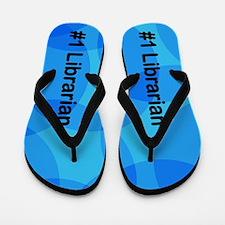 Fun Blue Librarian Flip Flops