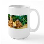 Meerkats standing guard Mugs
