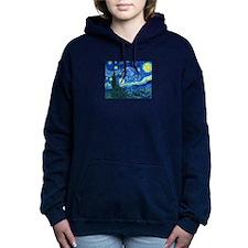 van gogh starry night Women's Hooded Sweatshirt