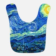 van gogh starry night Bib