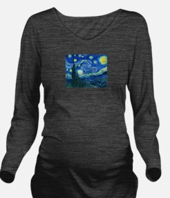 van gogh starry night Long Sleeve Maternity T-Shir