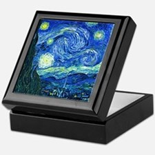van gogh starry night Keepsake Box