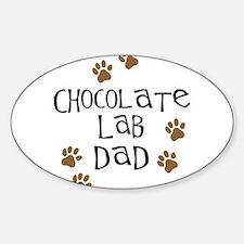 Chocolate Lab Dad Sticker (Oval)