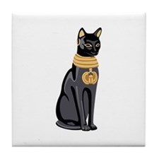 Egyptian Cat God Bastet Tile Coaster