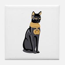 Egyptian Cat God Bastet Tile Coaster