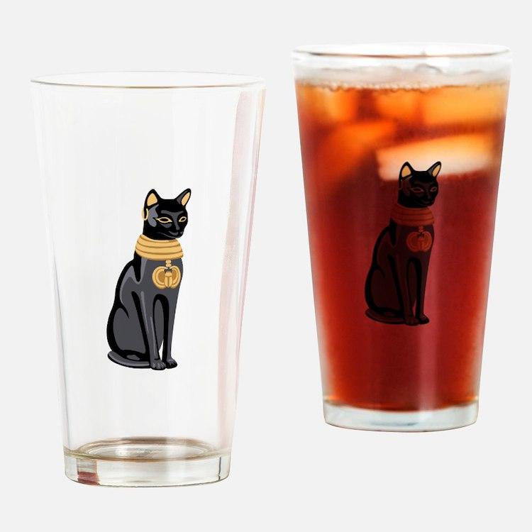 Egyptian Cat God Bastet Drinking Glass
