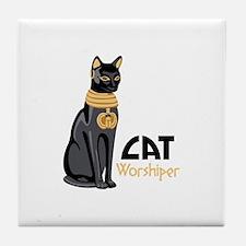 CAT Worshiper Tile Coaster