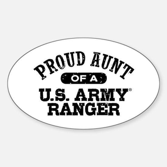Army Ranger Aunt Sticker (Oval)