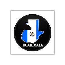"""Cute Guatemala map Square Sticker 3"""" x 3"""""""