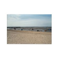 Morecambe harbour and fishing boa Rectangle Magnet