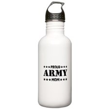 Proud Army Mom [v] Water Bottle