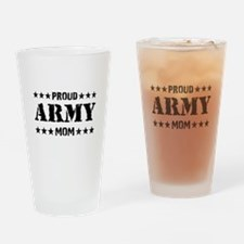Proud Army Mom [v] Drinking Glass