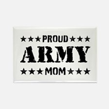 Proud Army Mom [v] Rectangle Magnet