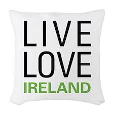 Live Love Ireland Woven Throw Pillow