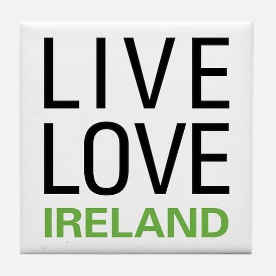 Live Love Ireland Tile Coaster