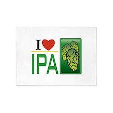 I Love IPA 5'x7'Area Rug