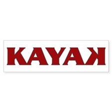 Kayak Bumper Bumper Sticker