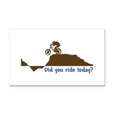 Did You Ride Today? Rectangle Car Magnet