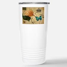 paris hydrangea butterf Travel Mug