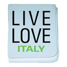 Live Love Italy baby blanket