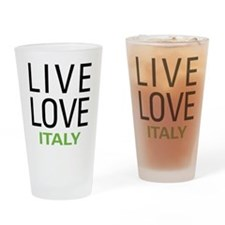 Live Love Italy Drinking Glass