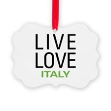 Live Love Italy Ornament