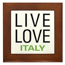 Live Love Italy Framed Tile