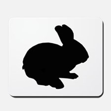 Black Silhouette Easter Bunny Mousepad