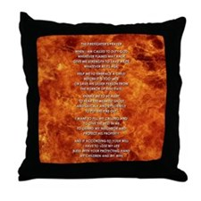THE FIREFIGHTER'S PRAYER Throw Pillow