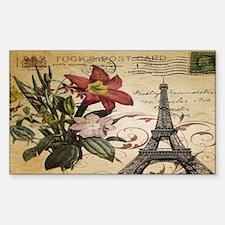 vintage lily paris eiffel towe Decal