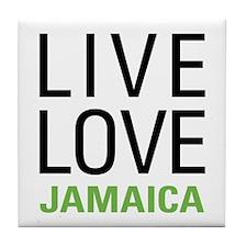 Live Love Jamaica Tile Coaster