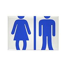Bow Legged Woman Magnets