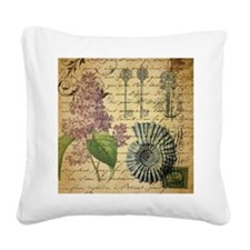 vintage skeleton key lilac se Square Canvas Pillow