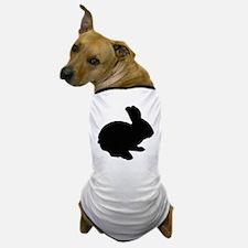 Black Silhouette Easter Bunny Dog T-Shirt