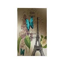 lilac butterfly eiffel tower paris  3'x5' Area Rug