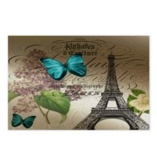 lilac butterfly eiffel to Postcards (Package of 8)