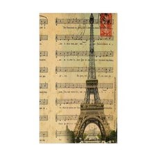 vintage music notes paris eiff Decal