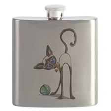 Siamese Yarn Thief Flask