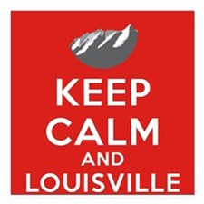 """Louisville Yellow Square Car Magnet 3"""" x 3"""""""