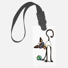 Siamese Yarn Thief Luggage Tag