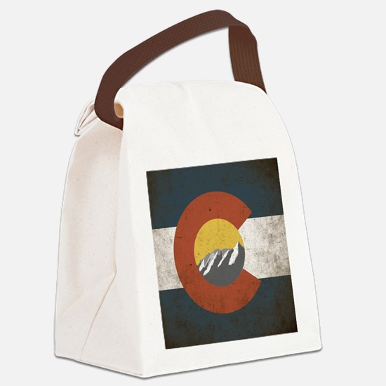 Colorado State Mountains Canvas Lunch Bag